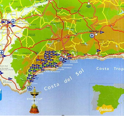 map andalucia golf courses